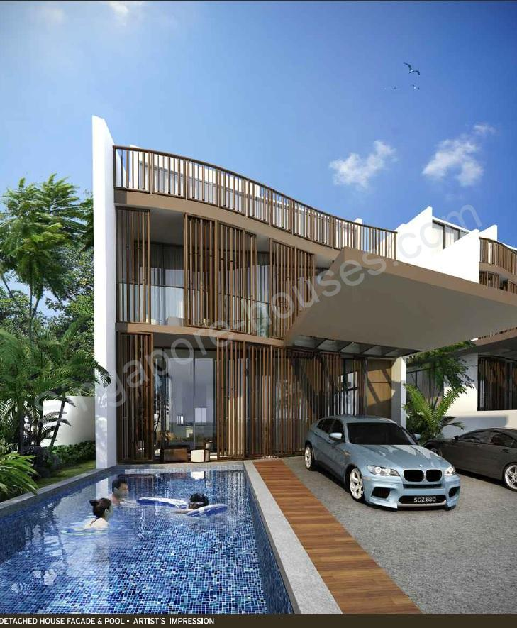 Holland grove new detached house singapore for Terrace house singapore